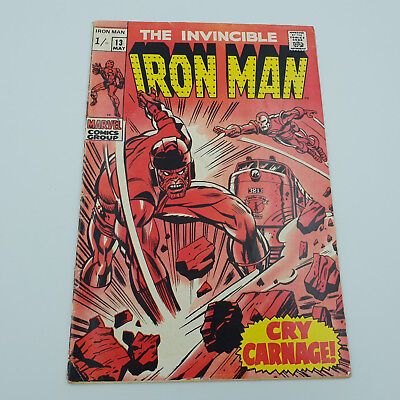 Iron Man #13 Silver Age Marvel Comics 2nd Appearance of The Controller VG