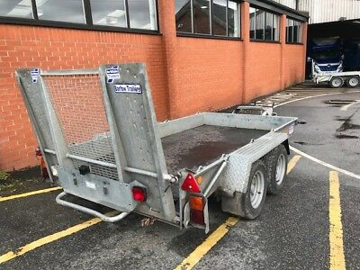 Used Ifor Williams GH1054BT-Twin Axle- 3,500kg plant trailer