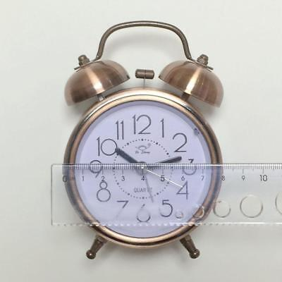 Classic Alarm Clock Vintage Large Numbers Silent Night LED Light Bell Retro Gift