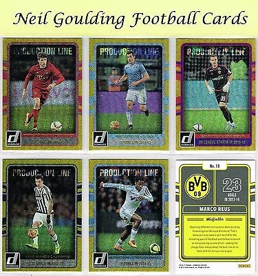 DONRUSS Soccer 2016 ☆☆ PRODUCTION LINE GOLD PARALLEL ☆☆ Football Cards #1 to #40