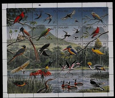 Malawi 1992 Thematics BIRDS Sheetlet SG876-895 Unmounted Mint REF:TS775