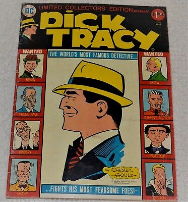 DICK TRACY (1975) DC Limited Collector's Edition Large Format Vintage Nice Comic