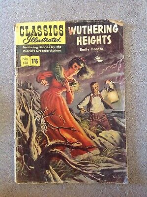Vintage Wuthering Heights Classic Illustrated Comic, No. 128 by Henry Kiefer