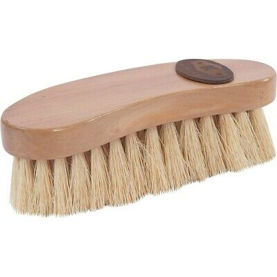 Kincade Wooden Back Deluxe Banana Shaped Dandy Brush for Horse Grooming - Brown