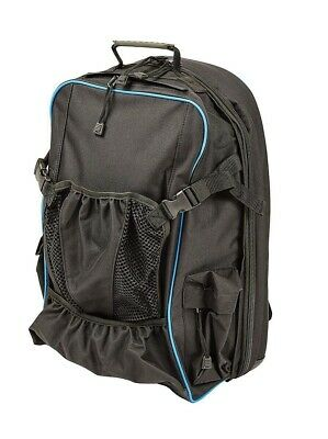 Dublin Imperial Backpack with Helmet Compartment and Whip Holder - Black/Blue