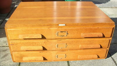 1950s Light Oak Plan Chest by E. N. Mason, Arclight Product.