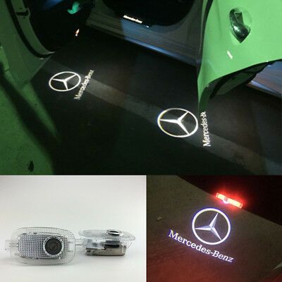 2x LED Door Logo Projector Lamp Step Light for Mercedes Benz S CL Class 2006-13