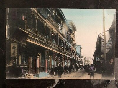 Mint Shanghai China Real Picture Postcard Chinse Street