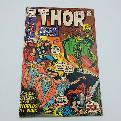 The Mighty Thor #186 Bronze Age Marvel Comics Stan Lee VG+