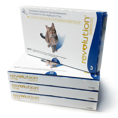 Revolution Spot On Treatment for Large Cats 4 Boxes by Zoetis Exp 01-2021