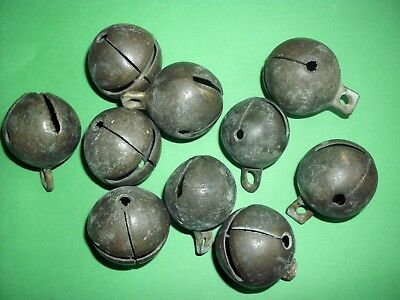 Lot Of 10 Ancient Celtic Decorative Bronze Bells - 100 Bc - Found Together!