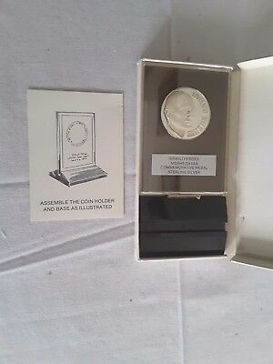 Moshe Dayan Commemorative Medal Sterling Silver Israel Coin Judaica Uncirculated