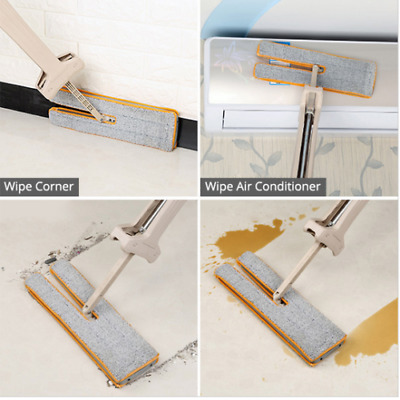 Self Cleaning Mop Double Sided Flat Magic Mop Telescopic Cleaning Tool UK Seller