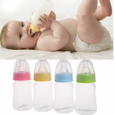 120ml Baby Newborn Nursing Nipple Milk Bottle Silicone Pacifier Water Feeding