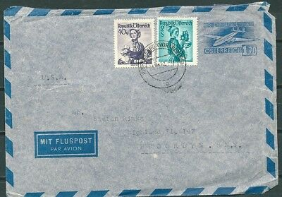 Austria 1951 Uprated Postal Cover Riefensberg To Brooklyn Usa -Cag 280118