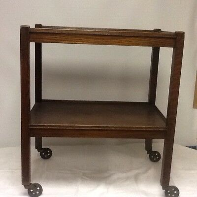 *REDUCED*Antique two teir tea/drinks trolley With Original Pull Out Holders