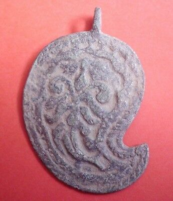 Decorated Ancient Celtic Druids Bronze Amulet Pendant - Wearable - 200/100 Bc