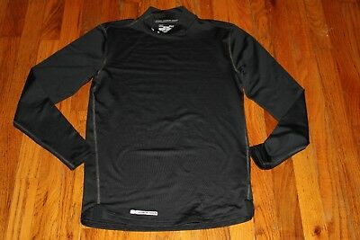 Nwot Under Armour Cold Gear Men's Black Fitted Mock Shirt Size S