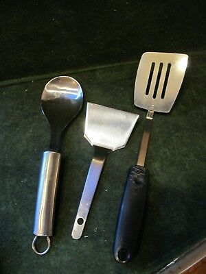 lot of utensils~ Stainless Steel Spatula, spoon and plastic handle spatula