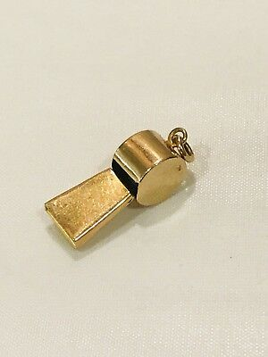 Fine 9ct Gold Whistle Charm, 375