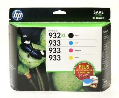 HP 932XL & 933 - High Yield BLACK & COLOR Inkjet Combo-Pack (D8J69FN) - GENUINE