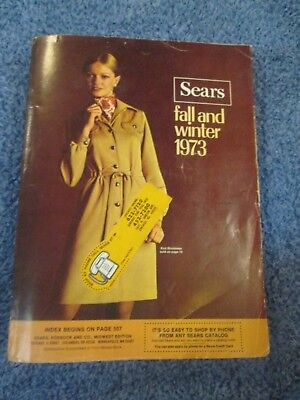 Vintage 1973 Sears Fall and Winter Catalog