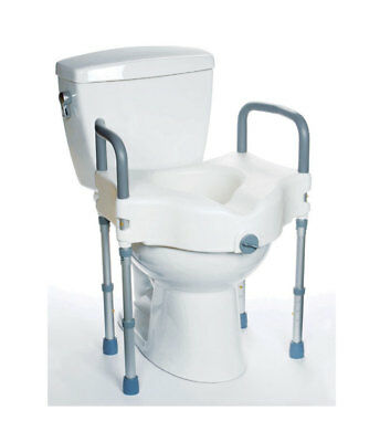 MOBB Elevated Raised Toilet Seat With Arms and Leg Supports