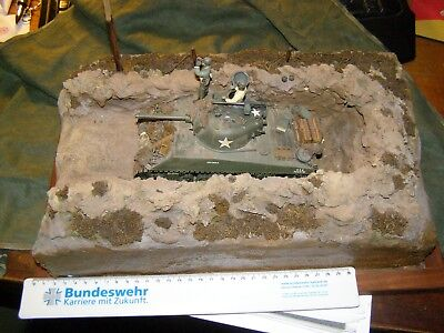Diorama, Modell, Panzer, Sherman, D-Day, US-Army, Stellung,
