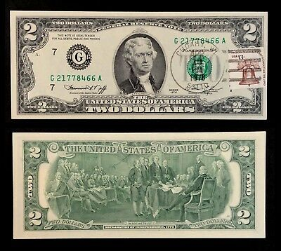 1976 Stamped $2 First Day Of Issue Federal Reserve Note Cudahy WI (P1406)