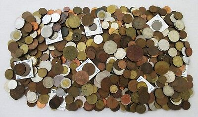 8+ POUNDS of OLD WORLD COINS (POSSIBLY A FEW TOKENS) > HUGE LOT > NO RSRV