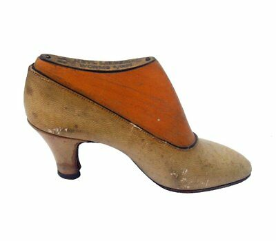 """Antique Heyl Liebenau Leather Factory Worms, Germany Wood Advertising Shoe 5"""""""