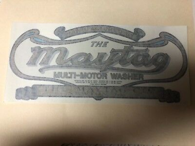 maytag upright engine wooden wringer washer decal