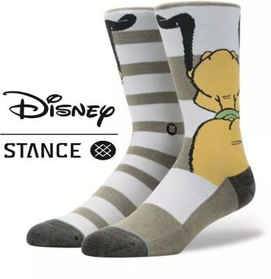 STANCE DISNEY Kids Youth L Large 2-5.5 D Pluto Crew Socks Combed Cotton 545