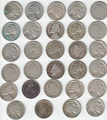 Lot of Old USA Nickels found in Canadian Auction Lot