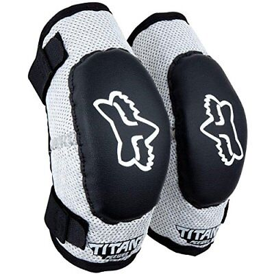 Fox Racing PeeWee Titan Youth Elbow Guard Black/Silver/Youth (ages 6-9)