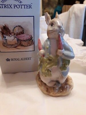 Royal Albert  Bertrix Potter Figure Peter Ate Raddish 1995