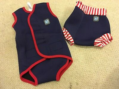 Splash About Baby Wrap And Happy Nappy, Wrap M & Nappy L. Good Condition