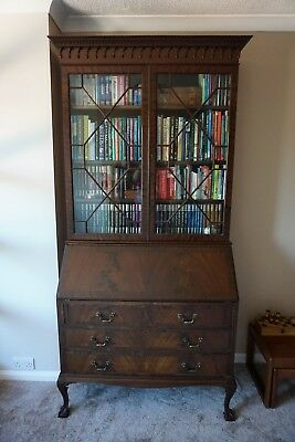 Antique Bureau Bookcase display cabinet