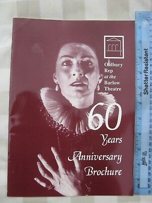 Oldbury Rep At The Barlow Theatre 60 Years Anniversary Brochure Book Mint
