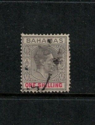 Bahamas SG155a, Very scarce thin striated paper 1942 printing, KGVI, Used