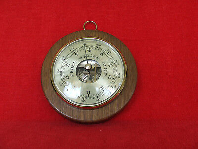 Barometer aus Holz- Messing -Made in Germany