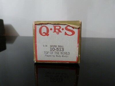 QRS pianola roll 'Top Of The World' .Good condition
