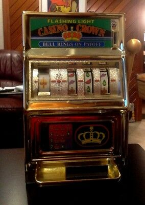 Waco Vintage Casino Crown Gambling Slot Machine Bank-excellent Condition!