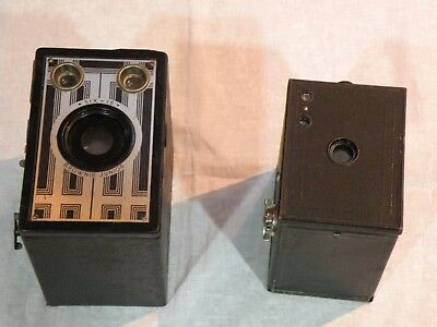 2 X Vintage Kodak Box Brownie   Camera
