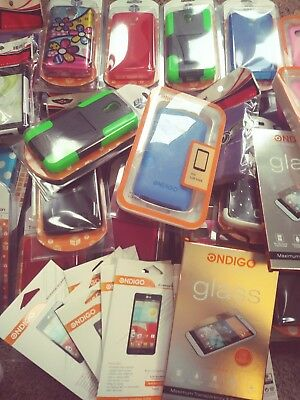 Bulk Wholesale Lot of 55 Mixed Cell Phone Cases, Skins, Screen Guards