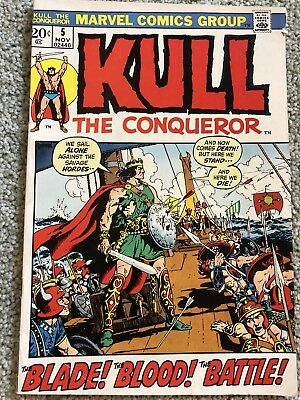 Kull the Conqueror #5 (Nov 1972, Marvel) VGD