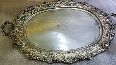 Gorham Sterling Silver Repousse Tray  1903