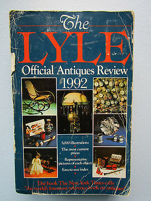 The Lyle Official Antiques Review 1992 5,000 Illustrations By Lyle Publications