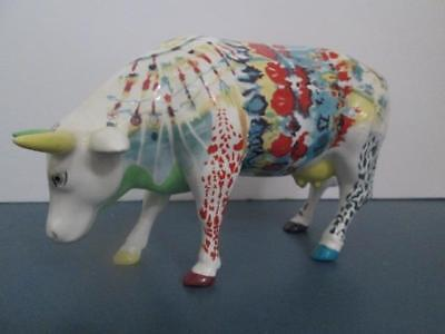 Westland Cow Parade Utterly Groovy Lady Belle Bennett#9170 Gently Used Condition
