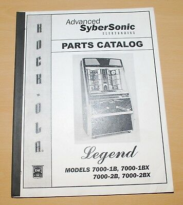Rock-Ola Advanced Sybersonic Cd Jukeboxes Parts Catalog Legend